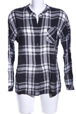 Emily van den Bergh Hemd-Bluse schwarz-weiß Allover-Druck Business-Look