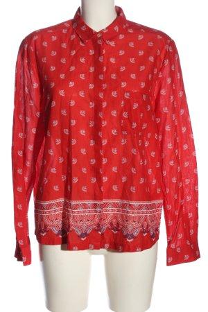Emily van den Bergh Hemd-Bluse abstraktes Muster Casual-Look