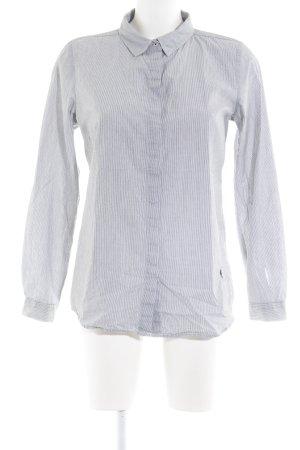Emily van den Bergh Hemd-Bluse weiß-schwarz Streifenmuster Business-Look