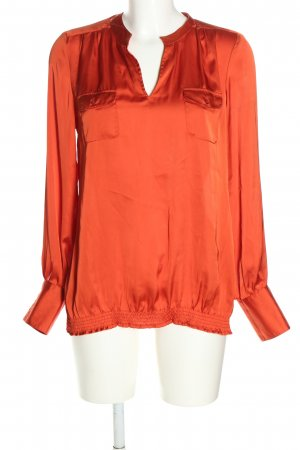 Emily van den Bergh Langarm-Bluse rot Casual-Look