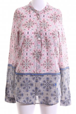 Emily van den Bergh Langarm-Bluse abstraktes Muster Casual-Look