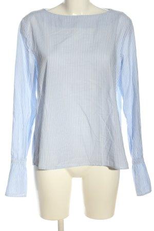 Emily van den Bergh Langarm-Bluse blau-weiß Streifenmuster Casual-Look