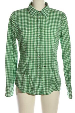 Emily van den Bergh Langarmhemd grün-weiß Karomuster Casual-Look