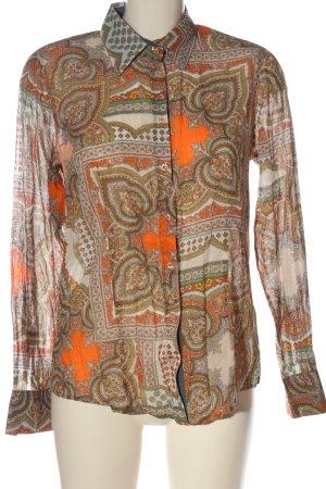 Emily van den Bergh Langarmhemd abstraktes Muster Casual-Look