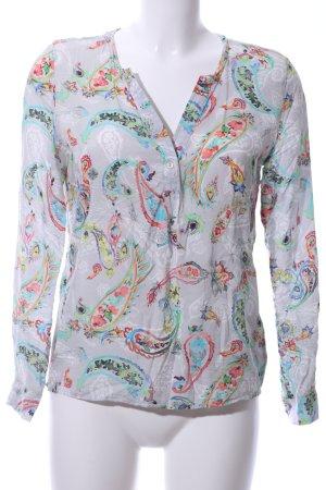 Emily van den Bergh Schlupf-Bluse abstraktes Muster Business-Look