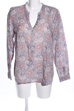 Emily van den Bergh Slip-over blouse abstract patroon casual uitstraling