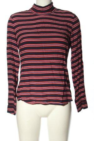 Emily van den Bergh Tie-neck Blouse striped pattern casual look