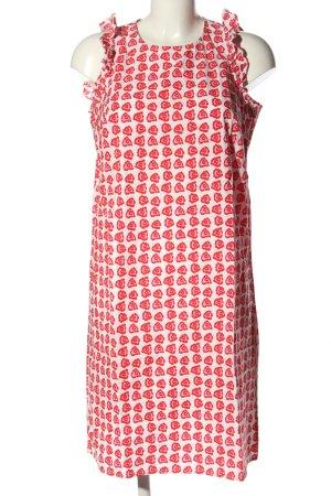 Emily van den Bergh Trägerkleid weiß-pink Allover-Druck Casual-Look