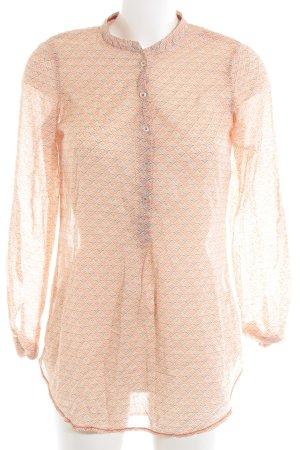 Emily van den Bergh Transparenz-Bluse abstraktes Muster Casual-Look