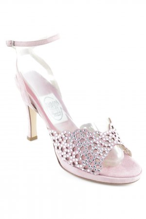 Emma Hope High Heels rosa-creme Punktemuster Elegant