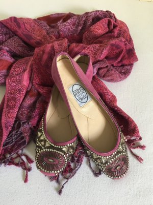 Emma Hope Shoes Ballerina pink mit Strass in super Zustand
