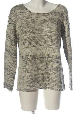 Emoi Pull ras du cou crème-gris clair gradient de couleur style décontracté