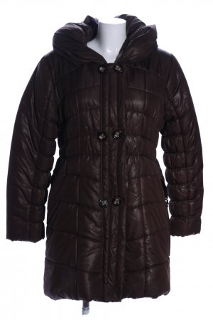 Emoi Quilted Coat brown quilting pattern business style