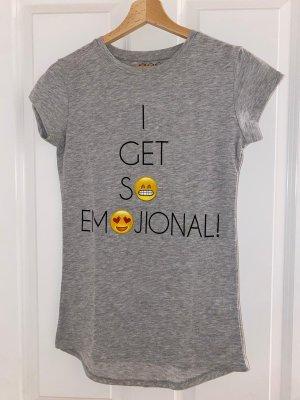 Shirt met print zilver