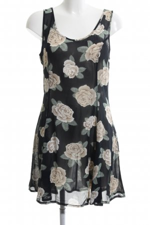 Blouse Dress flower pattern casual look