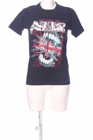 EMP Print-Shirt schwarz Motivdruck Casual-Look