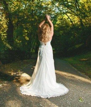 Madonna Vestido de novia blanco puro