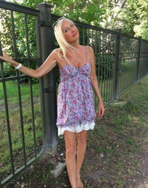 Empire Kleid Ballonkleid mit Blumen und Spitze Gr S