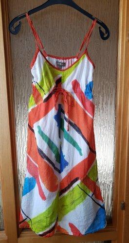 Empire Sommerkleid Kleid Knielang bunt S