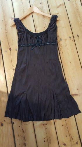 Empire Dress dark brown cotton