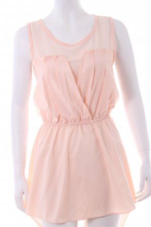 Empire dress in powder pink