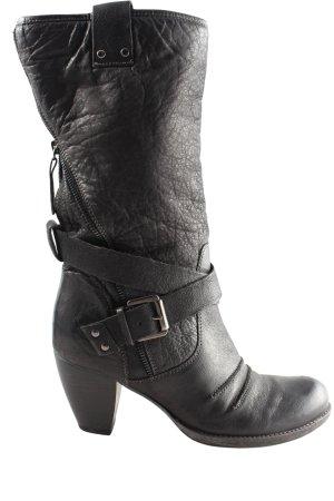 Empodium Absatz Stiefel schwarz Casual-Look
