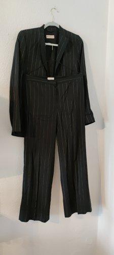 Emporio Armani Suit Trouser white-dark blue