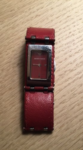 Emporio Armani Watch Clasp dark red