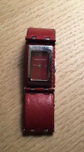 Emporio Armani Fermoir de montre rouge foncé