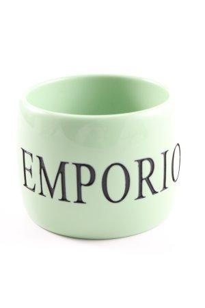 Emporio Armani Armreif grün-schwarz Schriftzug gedruckt Casual-Look