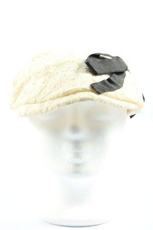 Emporio Armani Cappello da panettiere bianco sporco-nero elegante