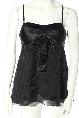 Emporio Armani Top tipo bustier negro look casual