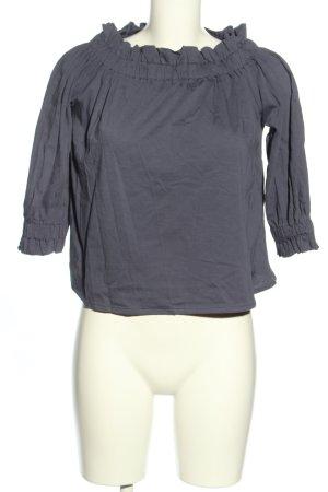 Emporio Armani Camisa tipo Carmen gris claro look casual