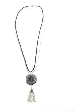 Emporio Armani Collier silberfarben-schwarz Elegant