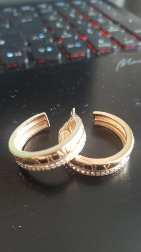 Emporio Armani Damen-Creolen 925 Sterling Silber rosevergoldet