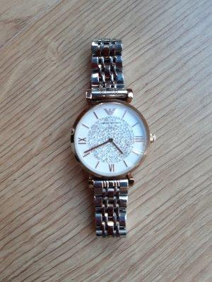 Emporio Armani Horloge met metalen riempje zilver-roségoud