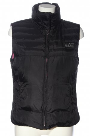 Emporio Armani Down Vest black quilting pattern casual look