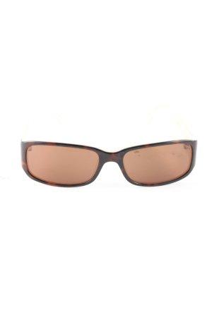 Emporio Armani Hoekige zonnebril bruin zakelijke stijl
