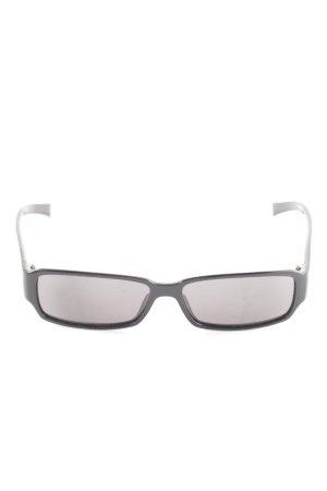Emporio Armani Hoekige zonnebril zwart casual uitstraling