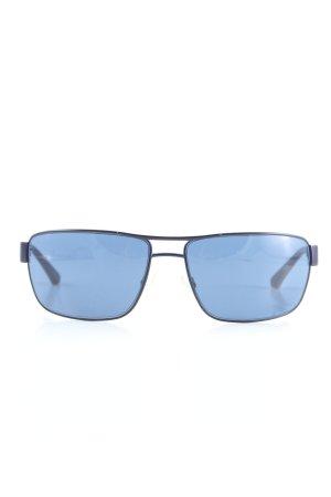 Emporio Armani Gafas de sol cuadradas azul look casual