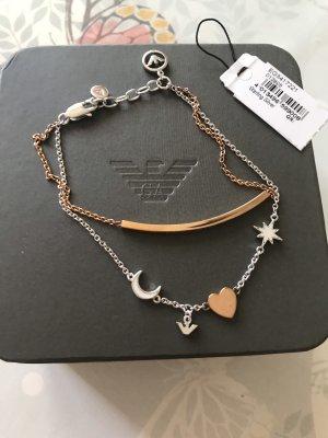 Emporio Armani Bracelet en argent or rose-argenté