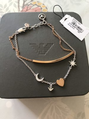 Emporio Armani Silver Bracelet rose-gold-coloured-silver-colored