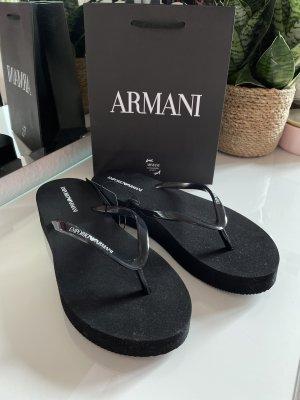 Emporio Armani Tong noir-blanc