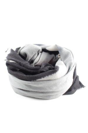 Emporio Armani Fringed Scarf light grey-black color gradient casual look
