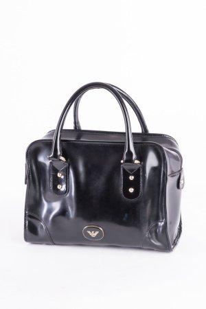 EMPORIO ARMANI - Handtasche Bowlingbag Lackleder Schwarz