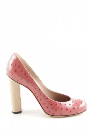 Emporio Armani High Heels pink animal pattern business style