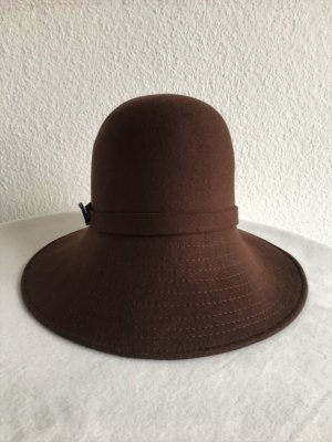 Emporio Armani Woolen Hat brown wool