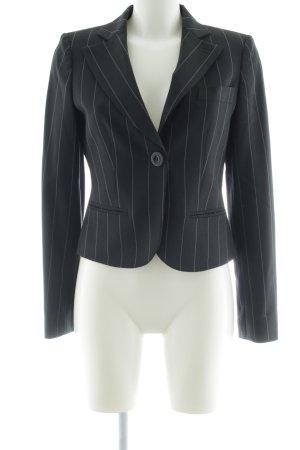 Emporio Armani Kurz-Blazer schwarz Streifenmuster Business-Look