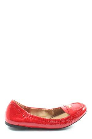 Emporio Armani Patent Leather Ballerinas red casual look