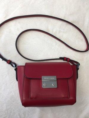 Emporio Armani Shoulder Bag red-dark red leather